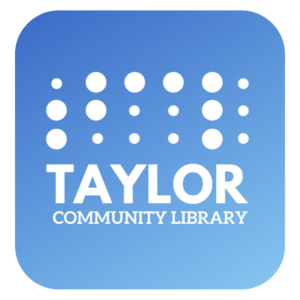 taylor community library app logo
